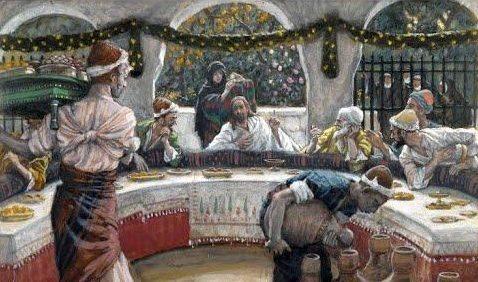 Jésus mange chez un pharisien