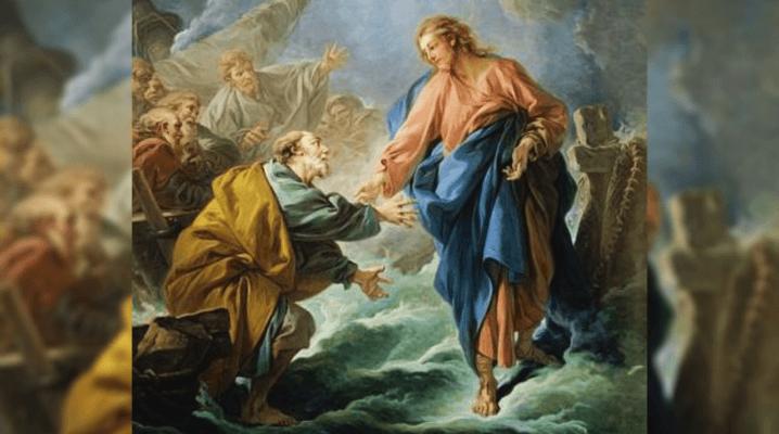 Jésus marche sur les eaux. Matthieu 14, 22-33